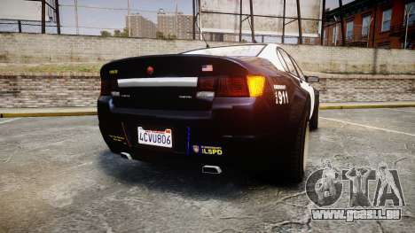 GTA V Cheval Fugitive LS Police [ELS] Slicktop für GTA 4 hinten links Ansicht