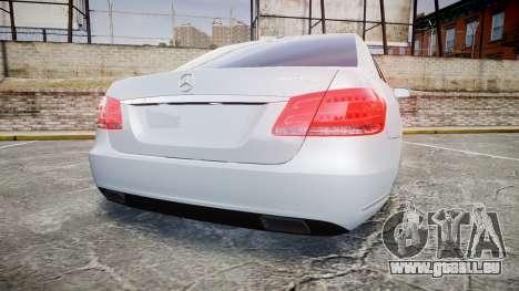 Mercedes-Benz E63 W213 AMG 2014 Vossen pour GTA 4 Vue arrière de la gauche