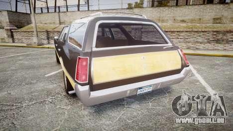 Oldsmobile Vista Cruiser 1972 Rims1 Tree1 pour GTA 4 Vue arrière de la gauche