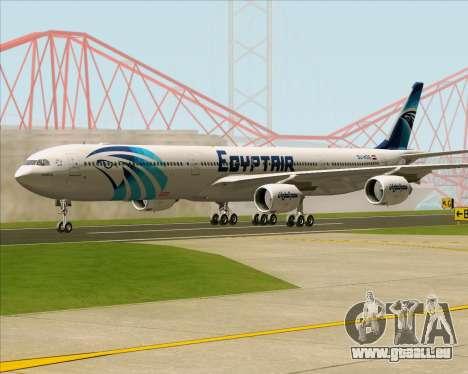 Airbus A340-600 EgyptAir pour GTA San Andreas sur la vue arrière gauche