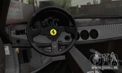 Ferrari F50 1995 Autovista pour GTA San Andreas sur la vue arrière gauche
