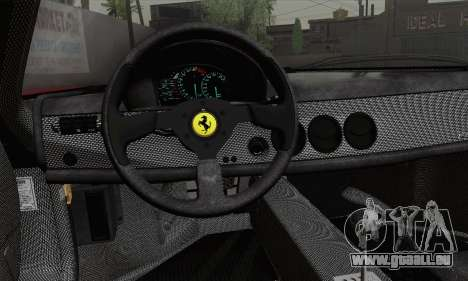 Ferrari F50 1995 Autovista für GTA San Andreas zurück linke Ansicht