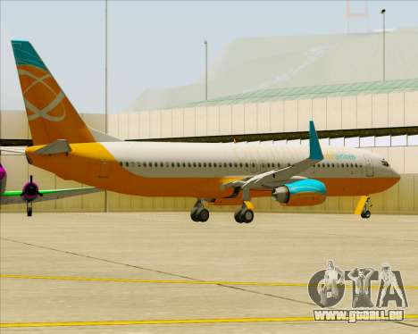 Boeing 737-800 Orbit Airlines pour GTA San Andreas roue