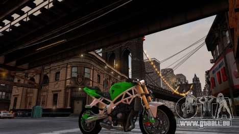 Kawasaki Ninja 636 Stunt pour GTA 4 Vue arrière de la gauche