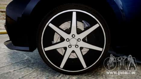 Lexus IS 350 F-Sport 2014 Rims2 pour GTA 4 Vue arrière