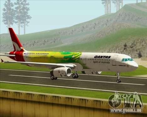 Airbus A321-200 Qantas (Socceroos Livery) pour GTA San Andreas laissé vue