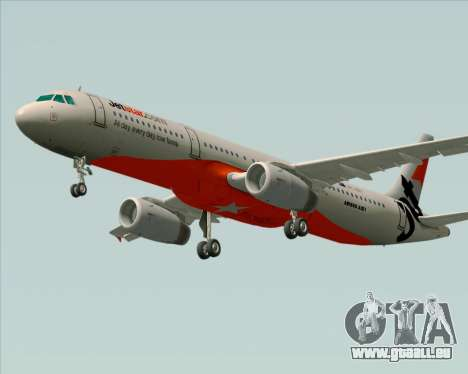 Airbus A321-200 Jetstar Airways für GTA San Andreas Innenansicht