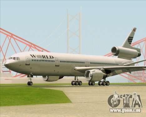McDonnell Douglas DC-10-30 World Airways für GTA San Andreas Rückansicht