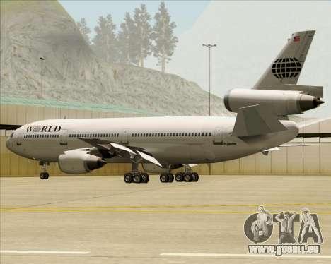 McDonnell Douglas DC-10-30 World Airways pour GTA San Andreas moteur