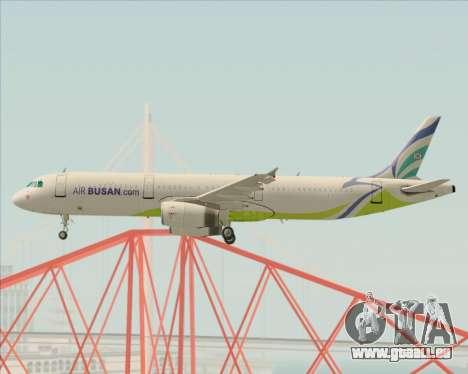 Airbus A321-200 Air Busan pour GTA San Andreas vue intérieure