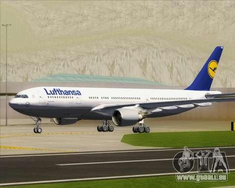 Airbus A330-200 Lufthansa pour GTA San Andreas vue de dessus