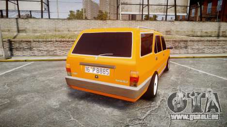 Tofas Kartal SLX Taxi pour GTA 4 Vue arrière de la gauche