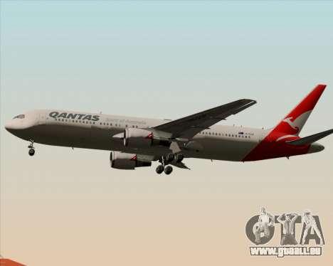 Boeing 767-300ER Qantas (New Colors) für GTA San Andreas Rückansicht