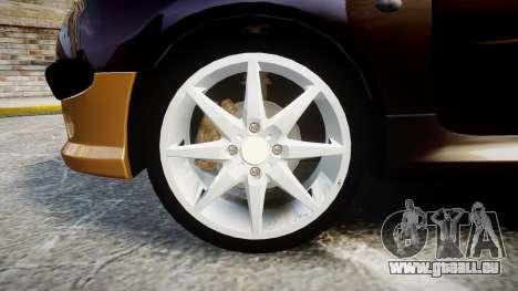 Peugeot 206 XS 1999 pour GTA 4 Vue arrière
