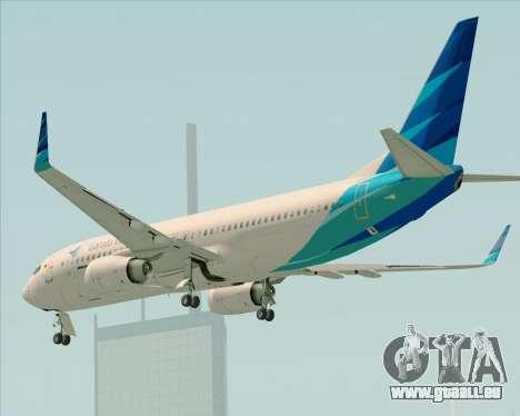 Boeing 737-800 Garuda Indonesia für GTA San Andreas Unteransicht