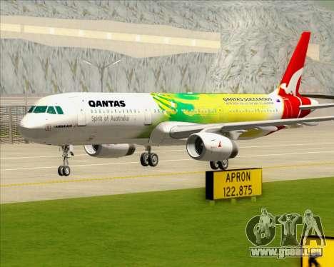 Airbus A321-200 Qantas (Socceroos Livery) für GTA San Andreas obere Ansicht