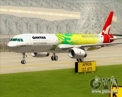 Airbus A321-200 Qantas (Socceroos Livery) pour GTA San Andreas vue de dessus