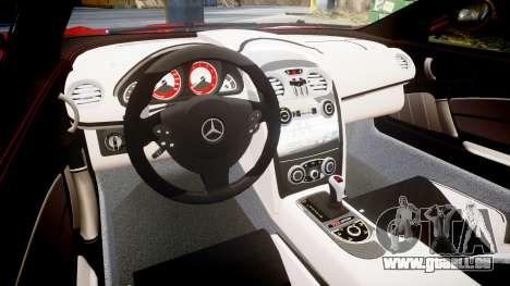 Mercedes-Benz SLR 722 2005 pour GTA 4 est une vue de l'intérieur