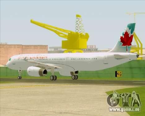 Airbus A321-200 Air Canada für GTA San Andreas rechten Ansicht