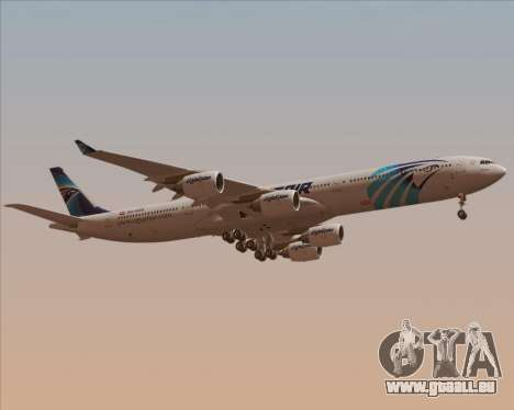 Airbus A340-600 EgyptAir für GTA San Andreas Seitenansicht