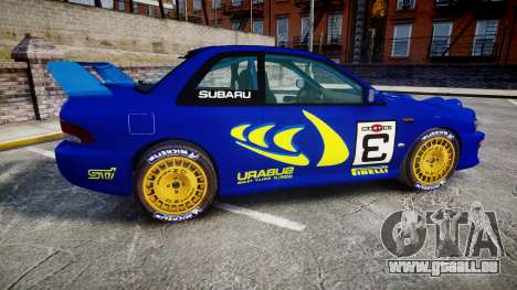 Subaru Impreza WRC 1998 Rally v3.0 Yellow für GTA 4 linke Ansicht