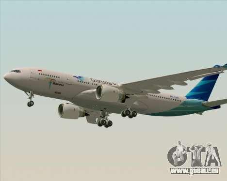 Airbus A330-243 Garuda Indonesia für GTA San Andreas linke Ansicht