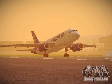 Airbus A319-132 Spirit Airlines pour GTA San Andreas laissé vue