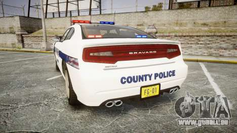 GTA V Bravado Buffalo Liberty Police [ELS] pour GTA 4 Vue arrière de la gauche