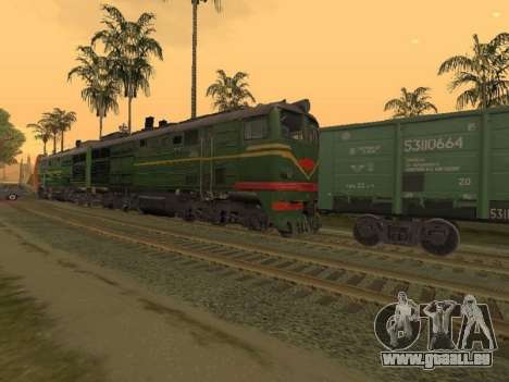 Locomotive 2TE10L-079 pour GTA San Andreas laissé vue