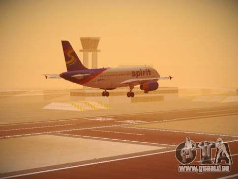 Airbus A319-132 Spirit Airlines pour GTA San Andreas moteur