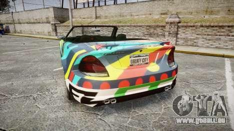 Benefactor Feltzer Grey Series v2 für GTA 4 hinten links Ansicht