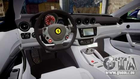 Ferrari FF 2012 Pininfarina Blue pour GTA 4 est une vue de l'intérieur