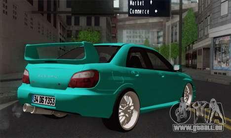 Subaru Impreza RC pour GTA San Andreas laissé vue