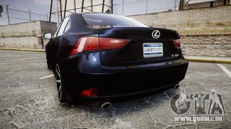 Lexus IS 350 F-Sport 2014 Rims2 pour GTA 4 Vue arrière de la gauche