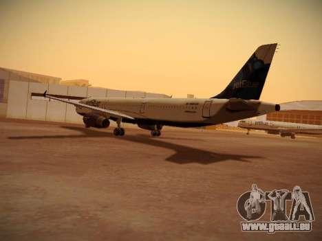 Airbus A321-232 jetBlue La vie en Blue für GTA San Andreas zurück linke Ansicht
