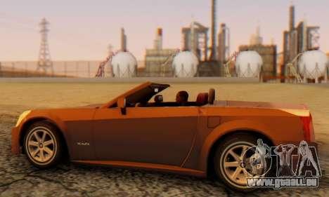 Cadillac XLR pour GTA San Andreas sur la vue arrière gauche
