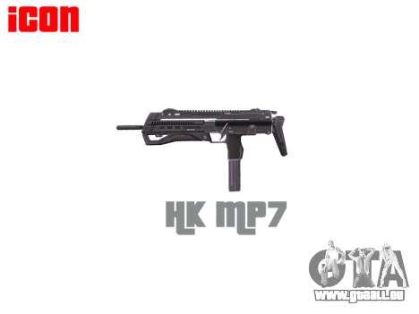 Pistolet mitrailleur HK MP7 pour GTA 4 troisième écran