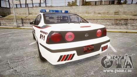 Chevrolet Impala 2003 Liberty City Police [ELS] pour GTA 4 Vue arrière de la gauche