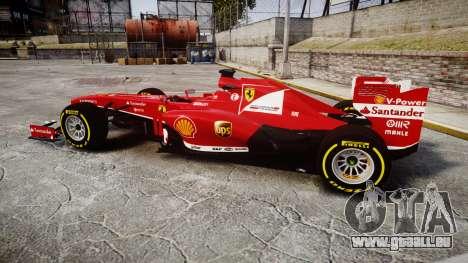 Ferrari F138 v2.0 [RIV] Alonso TSD pour GTA 4 est une gauche