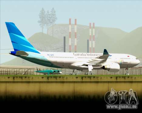 Airbus A330-243 Garuda Indonesia für GTA San Andreas Unteransicht