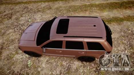Jeep Grand Cherokee SRT8 rim lights pour GTA 4 est un droit