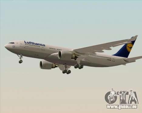 Airbus A330-200 Lufthansa pour GTA San Andreas sur la vue arrière gauche