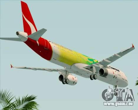 Airbus A321-200 Qantas (Socceroos Livery) pour GTA San Andreas vue de côté
