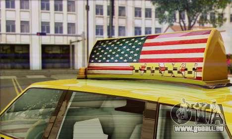 VAPID Huntley Taxi (Saints Row 4 Style) pour GTA San Andreas sur la vue arrière gauche