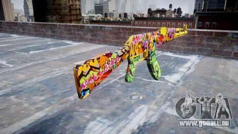 АК-47 graffiti camo pour GTA 4 secondes d'écran
