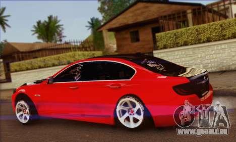 BMW 535i F10 Stance Works pour GTA San Andreas laissé vue