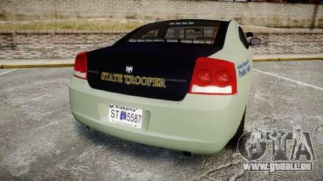 Dodge Charger 2010 Alabama State Troopers [ELS] pour GTA 4 Vue arrière de la gauche
