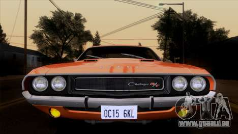 Dodge Challenger 426 Hemi (JS23) 1970 (ImVehFt) pour GTA San Andreas vue arrière