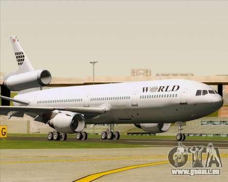 McDonnell Douglas DC-10-30 World Airways pour GTA San Andreas laissé vue