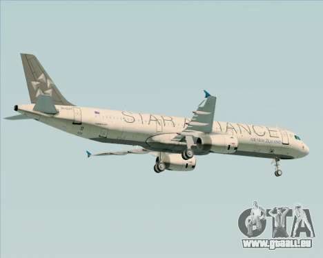 Airbus A321-200 Air New Zealand (Star Alliance) für GTA San Andreas Motor